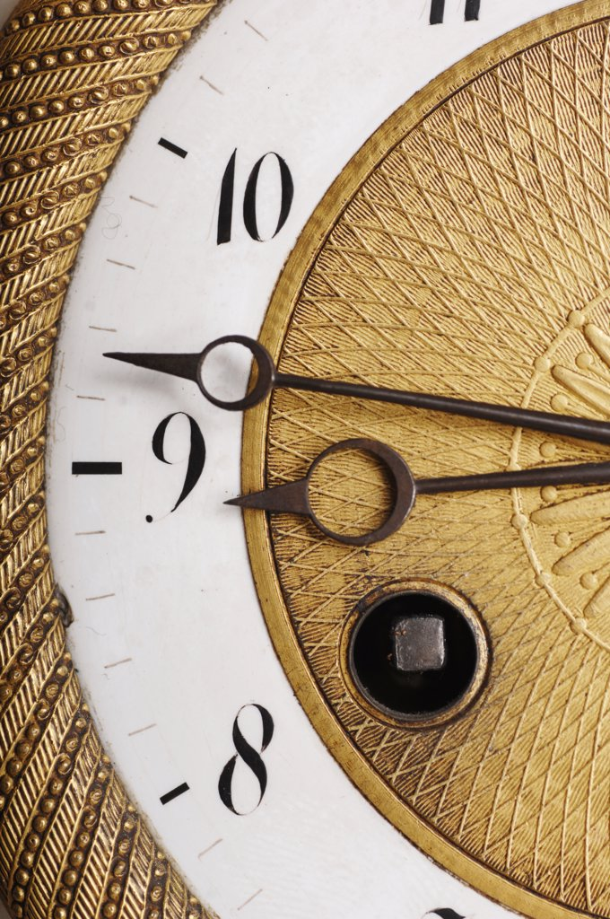 Stock Photo: 1815R-20693 Close-up of an Antique Clock Face