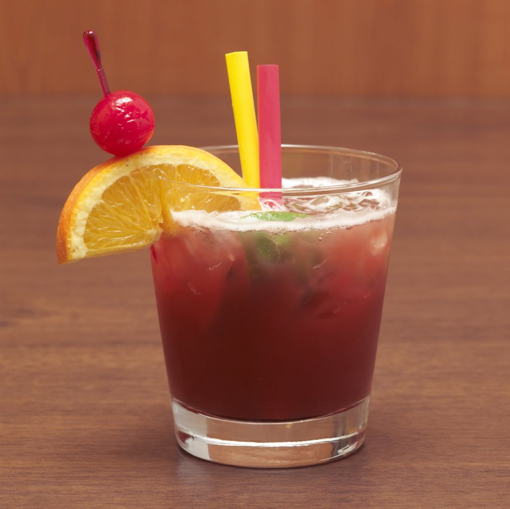 Zombie cocktail, close-up : Stock Photo