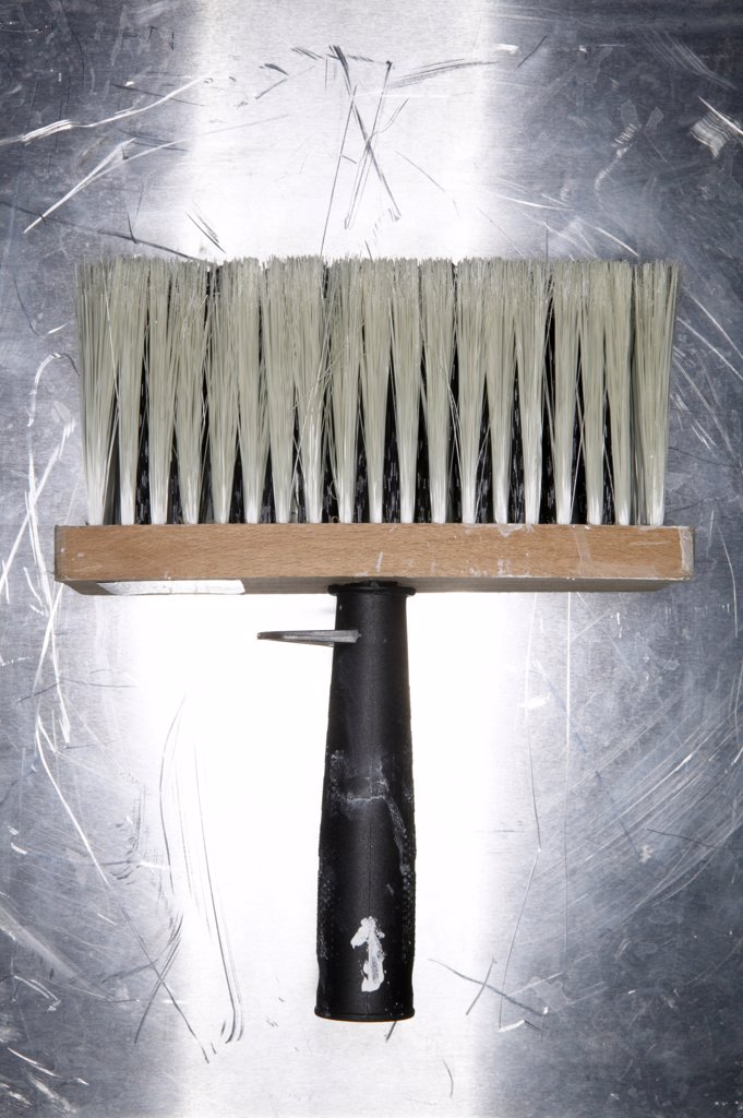 Wallpapering brush, close-up : Stock Photo