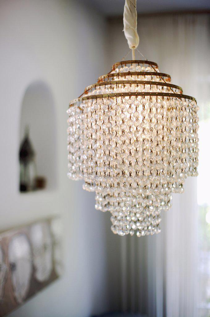 Art Nouveau-Lamp, close-up : Stock Photo