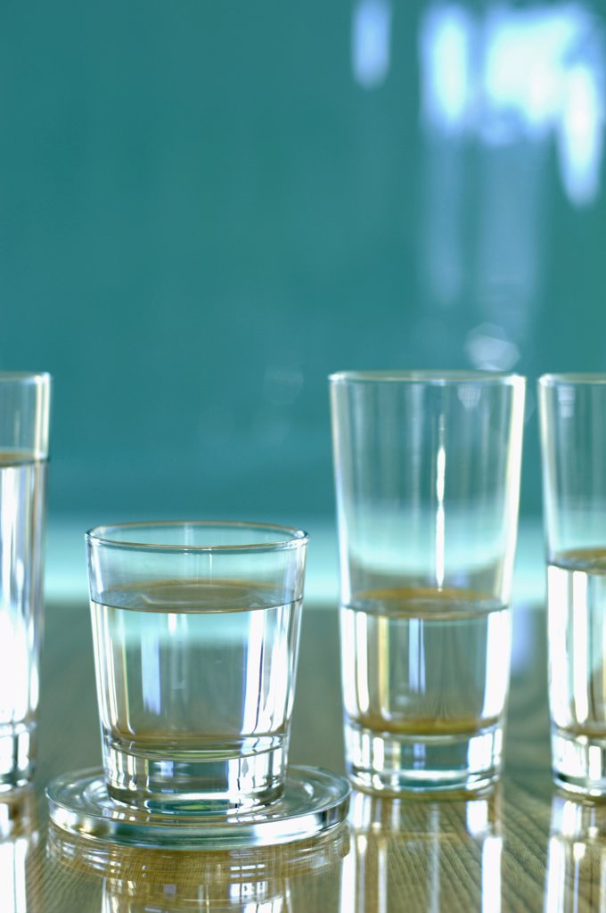 Stock Photo: 1815R-3180 Glass filled with water, close-up