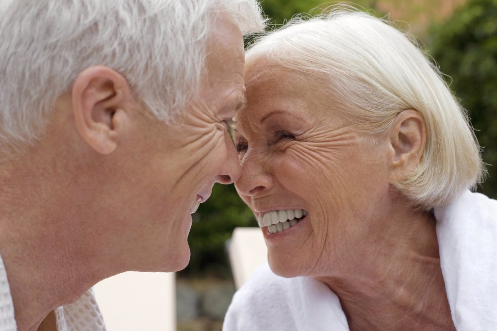 Germany, senior couple, face to face, portrait : Stock Photo