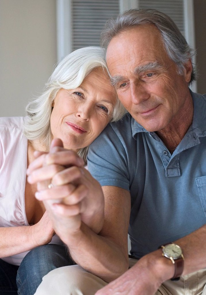 Senior couple, portrait : Stock Photo
