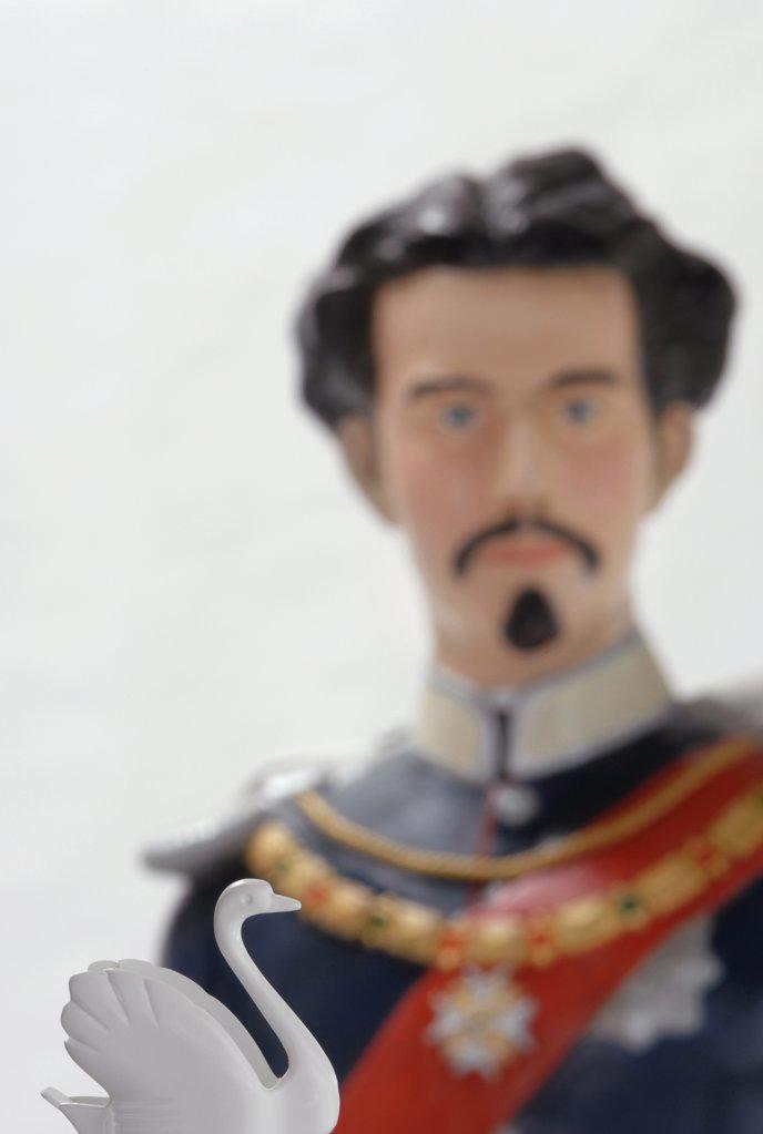 Ludwig II of Bavaria, figurine : Stock Photo