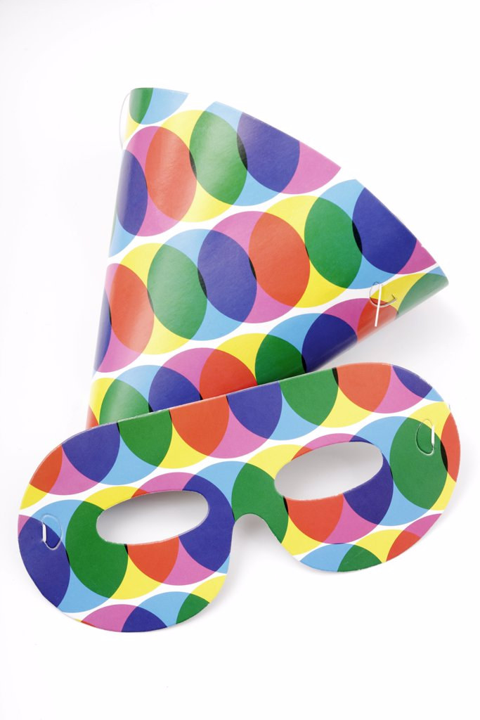 Colourful carnival masks, close up : Stock Photo