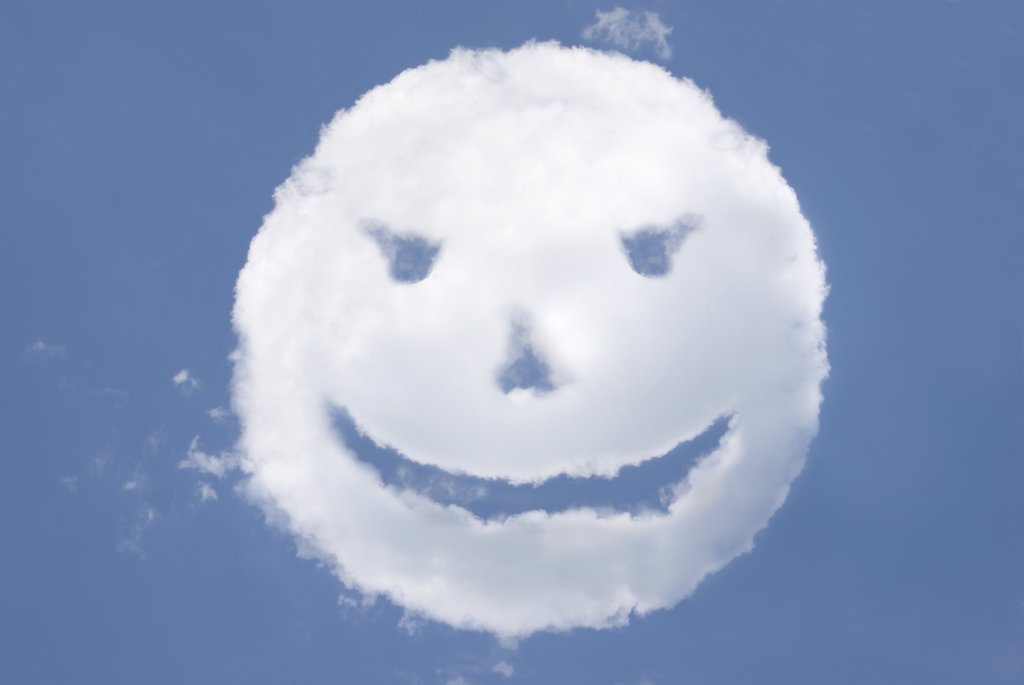 Face-shaped cloud : Stock Photo