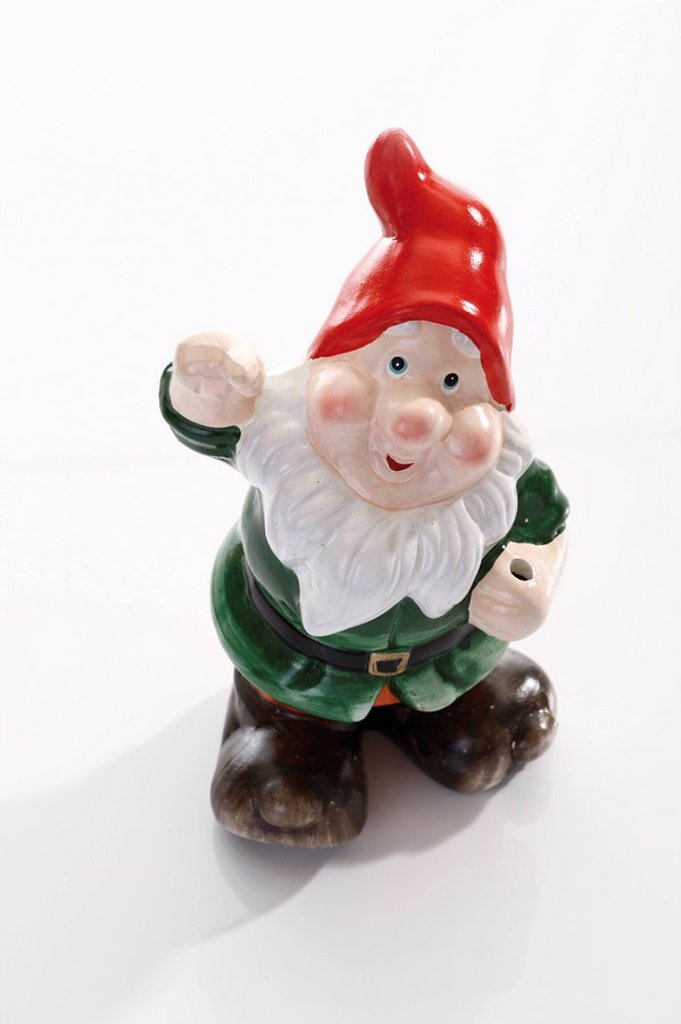 Stock Photo: 1815R-51502 Garden gnome, close up
