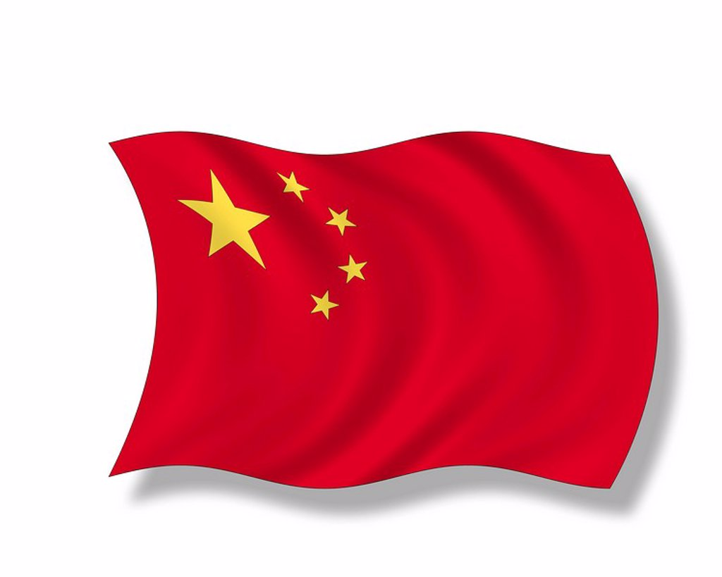 Illustration, Flag of China : Stock Photo