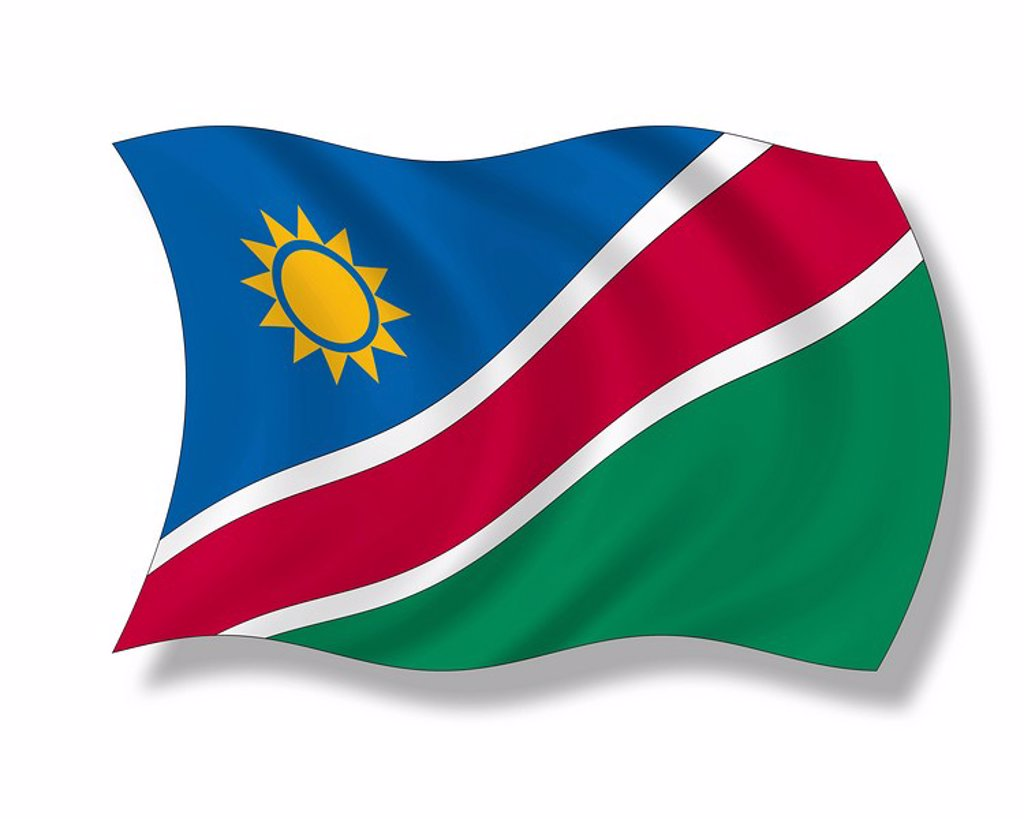 Illustration, Flag of Namibia : Stock Photo