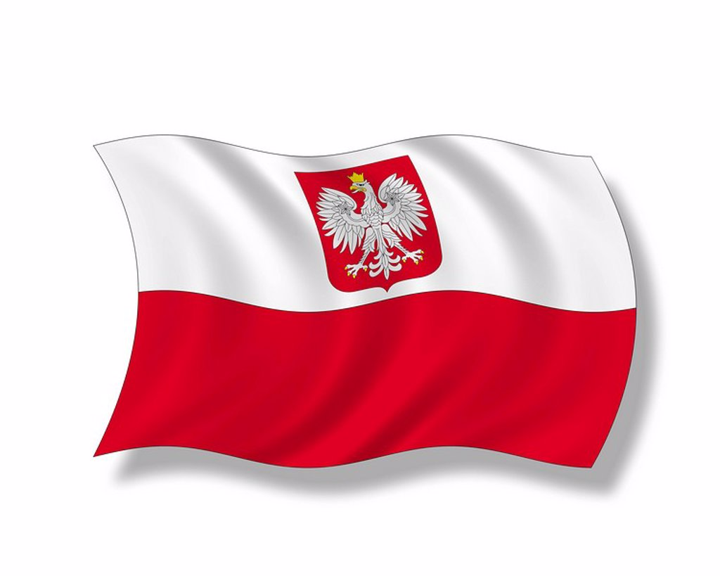Stock Photo: 1815R-52060 Illustration, Flag of Poland