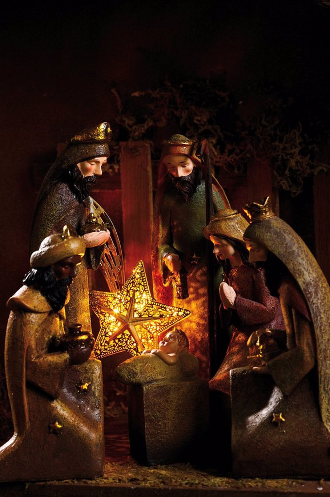 Christmas decoration, nativity scene : Stock Photo