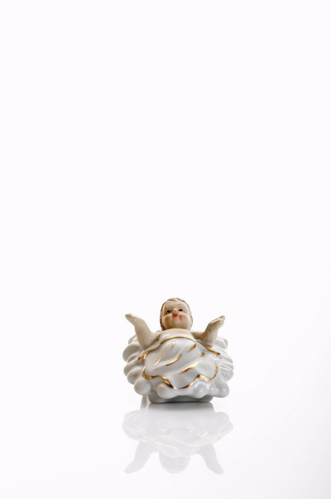 Stock Photo: 1815R-52503 Christmas decoration, Small Baby Jesus Crib Figure