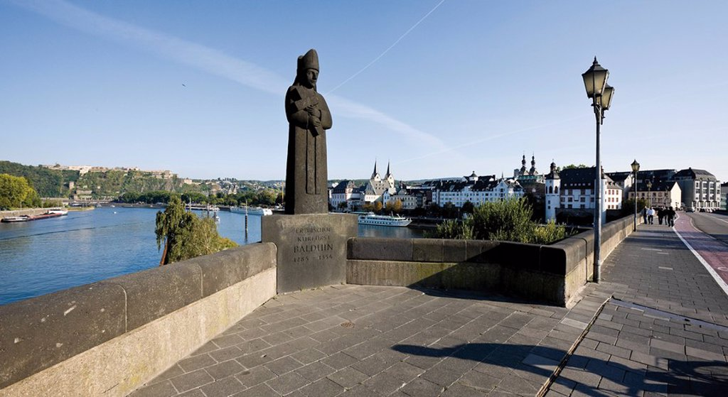 Germany, Rhineland_Palatinate, Koblenz, Balduin Bridge : Stock Photo