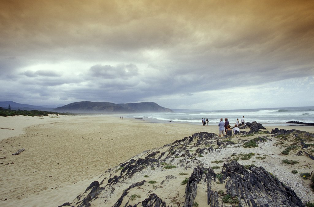 beach of Nature's Valley, Garden Route, Eastern Cape, South Africa : Stock Photo