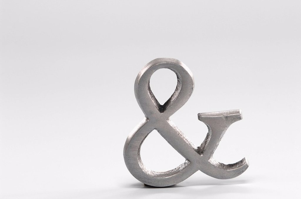 And Symbol, Ampersand Sign : Stock Photo