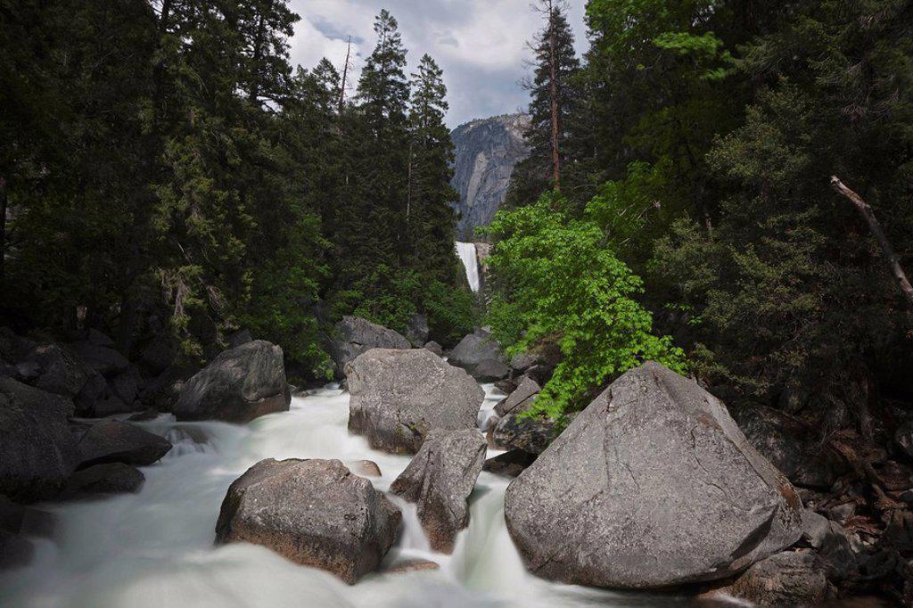 USA, California, Yosemite National Park, Vernal Fall : Stock Photo