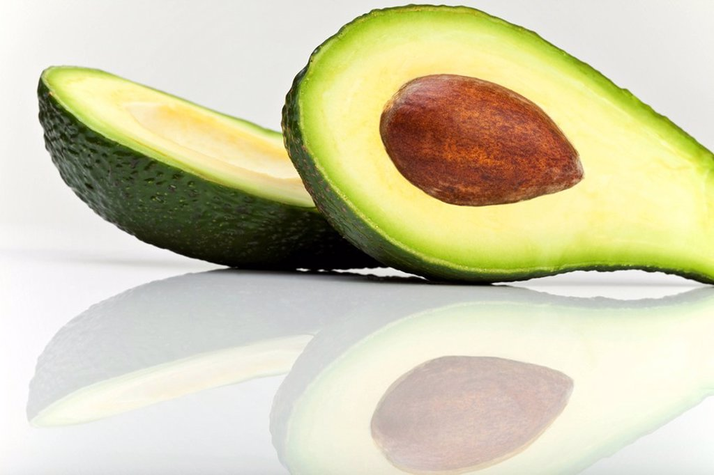 Sliced Avocado Persea gratissim : Stock Photo