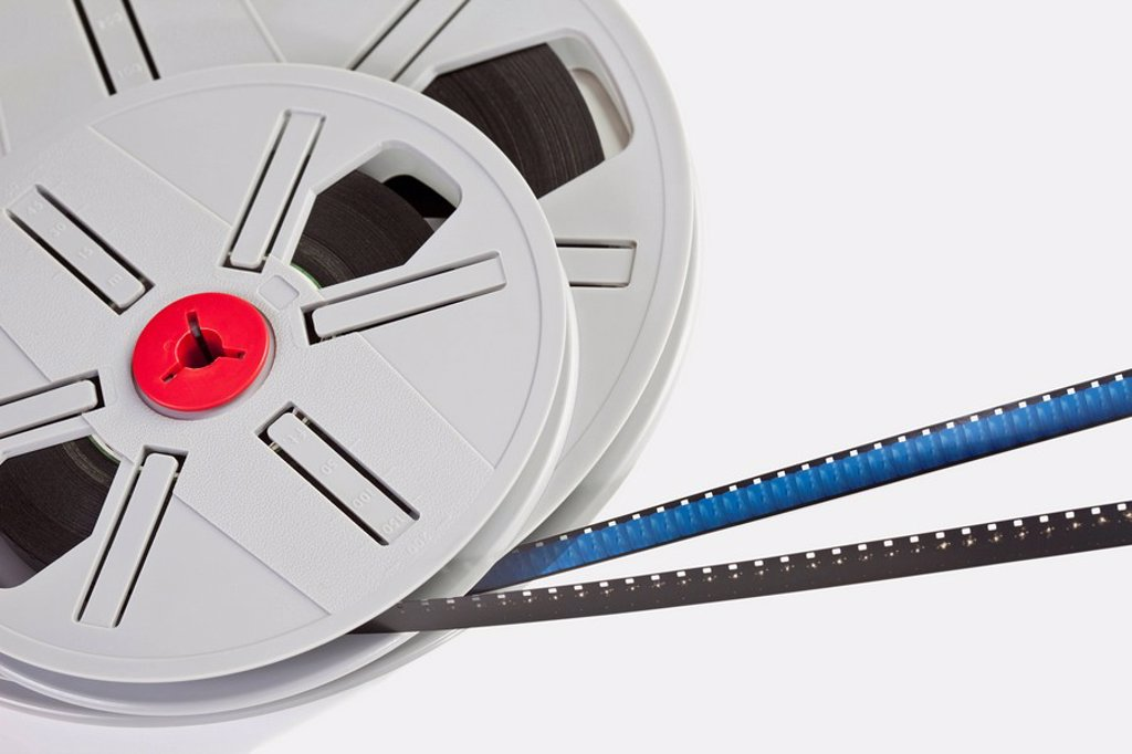 Film reels, elevated view : Stock Photo