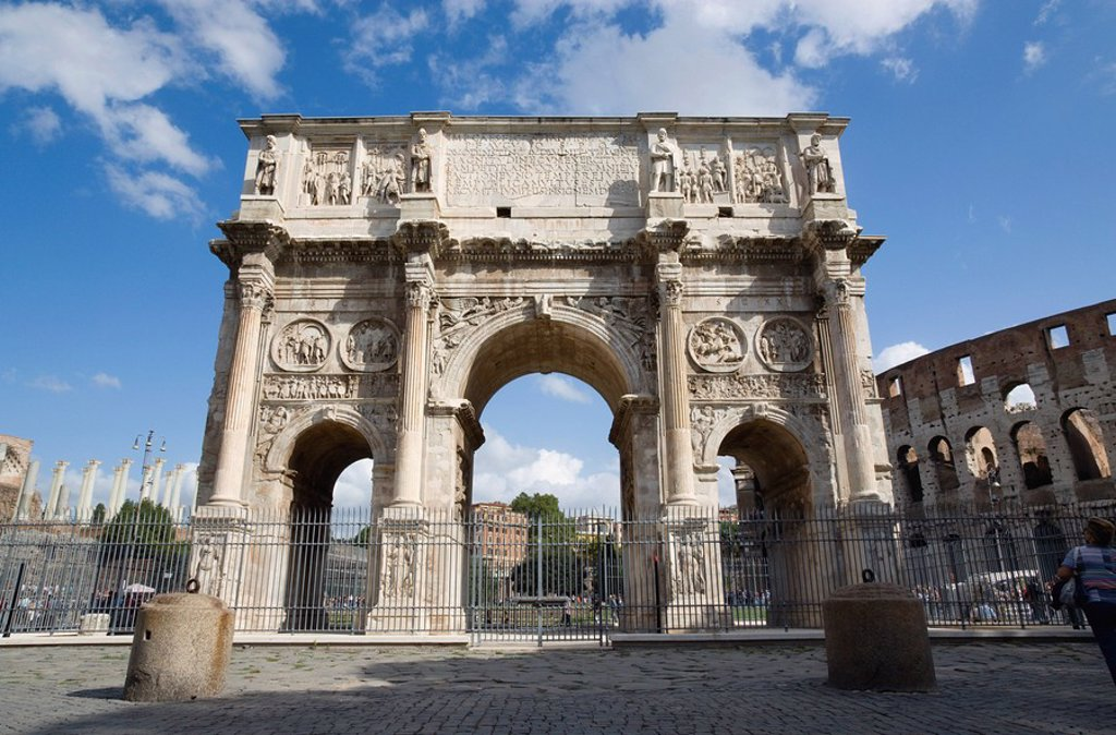 Italy, Rome, Arch of Constantine : Stock Photo