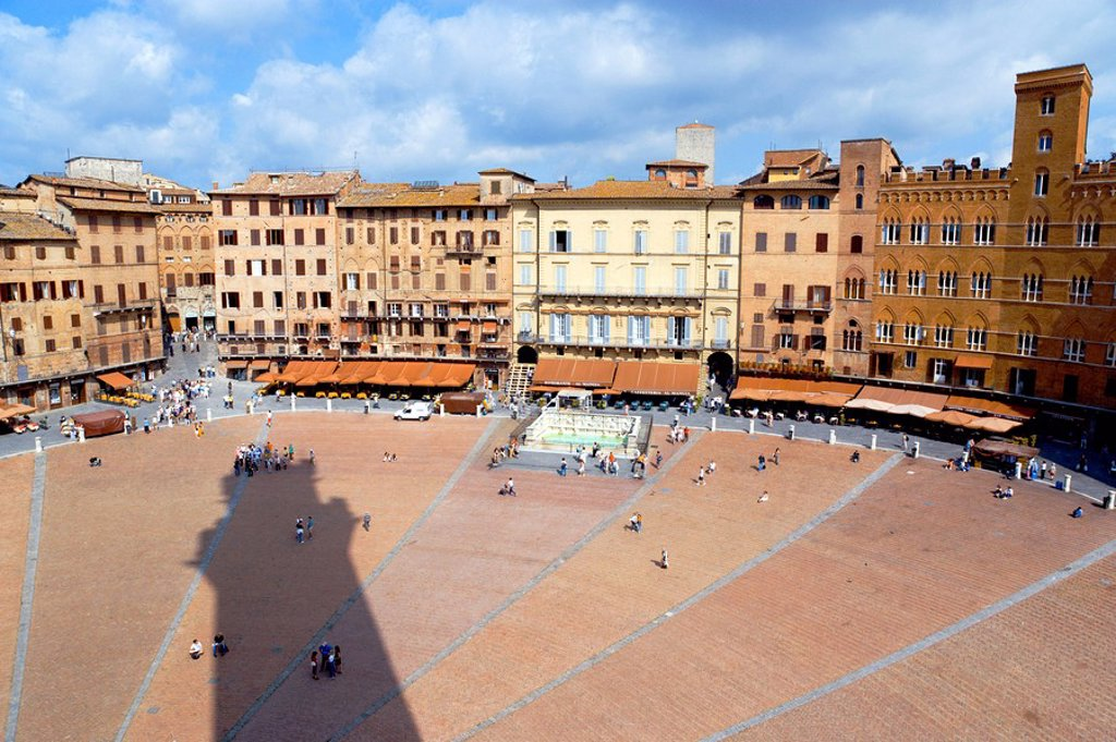 Stock Photo: 1815R-59892 Italy, Tuscany, Siena, Piazza del Campo