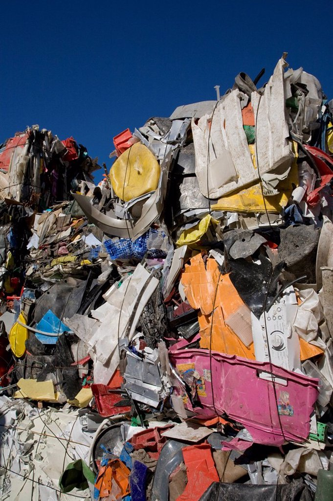 Landfill site, Stacks of sorted waste : Stock Photo