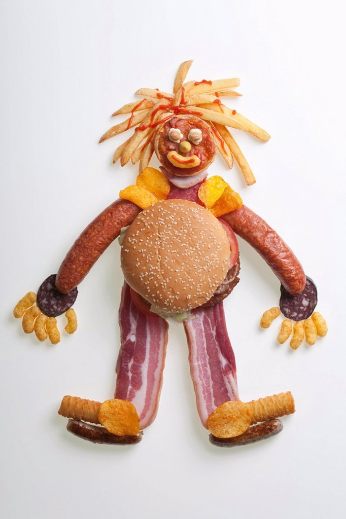 Figurine made from fast food : Stock Photo