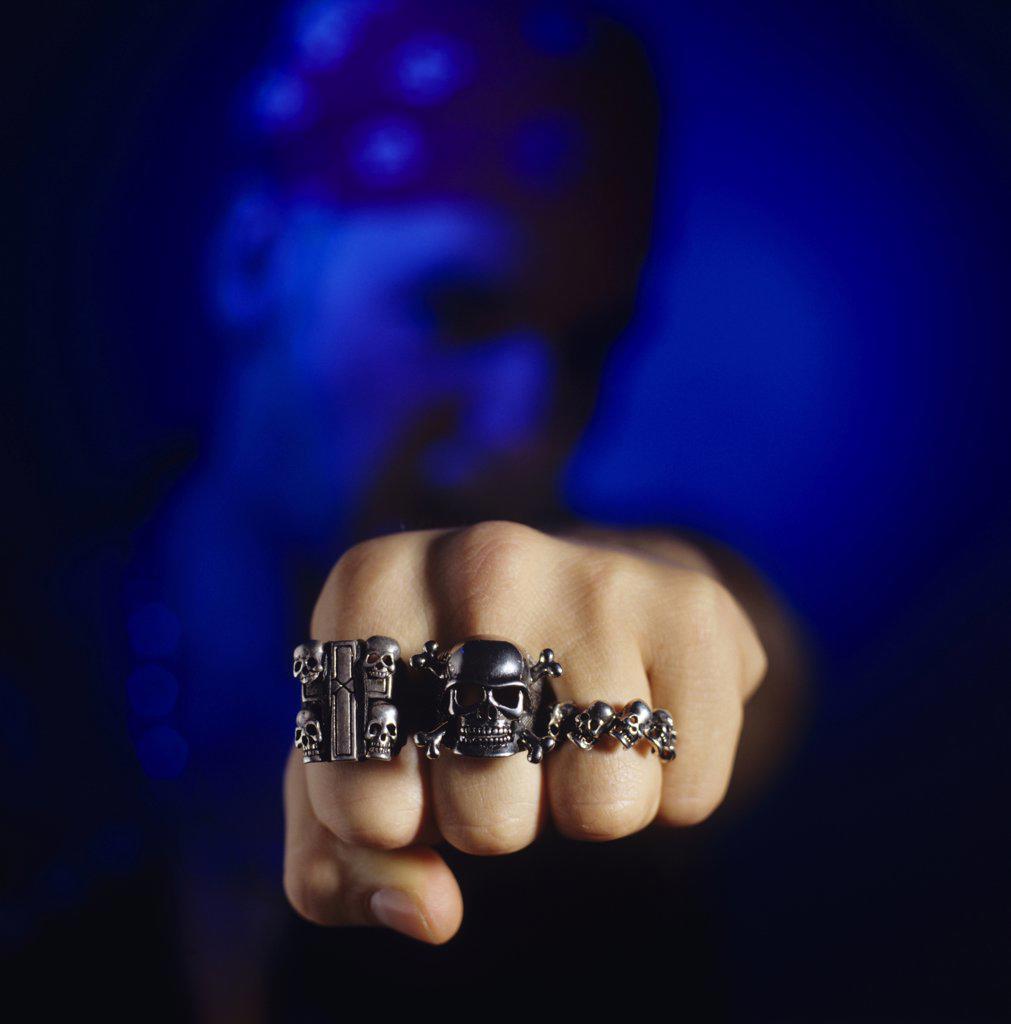 Stock Photo: 1815R-6400 Skull rings