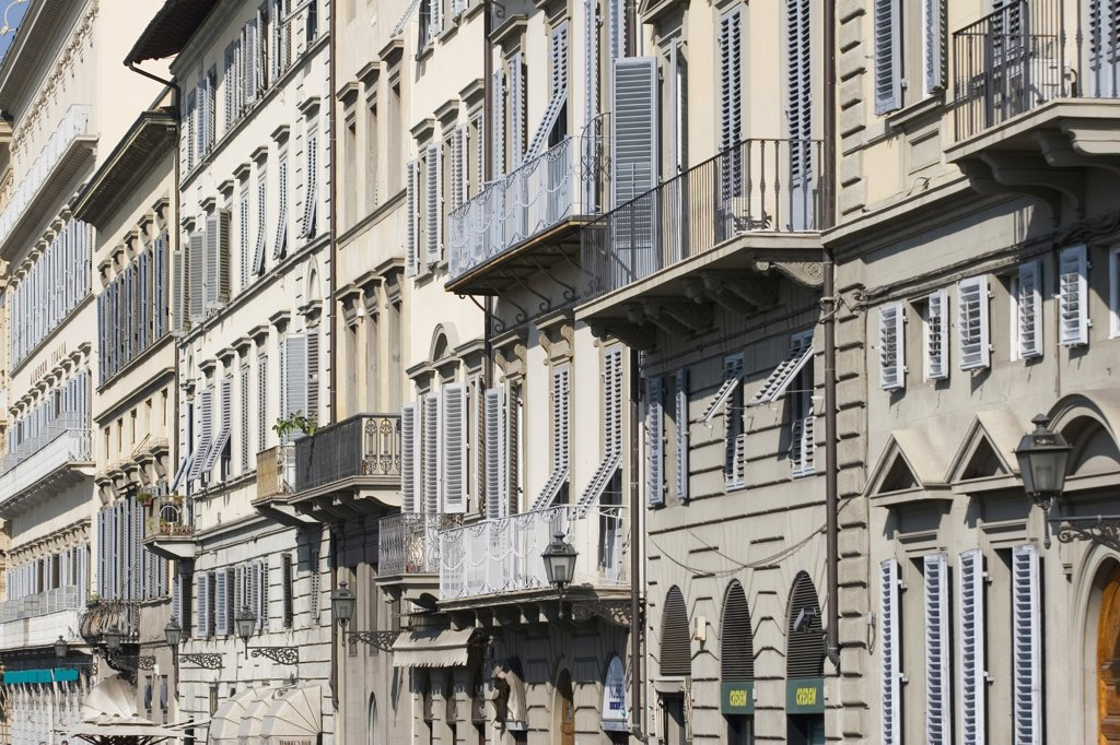 Stock Photo: 1815R-6457 Italy, Florence, exterior buildings