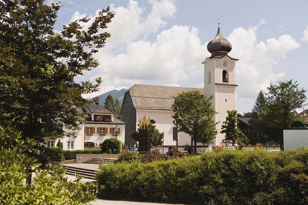 Stock Photo: 1815R-66935 Austria, Salzkammergut, Strobl, St. Sigismund Parish Church