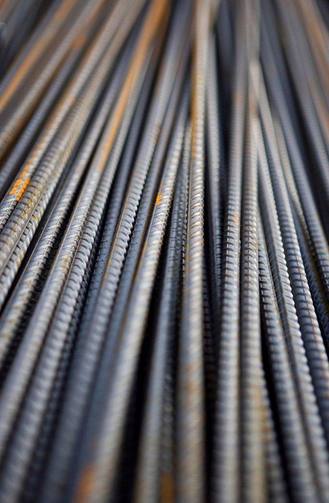 Iron bars, full frame : Stock Photo