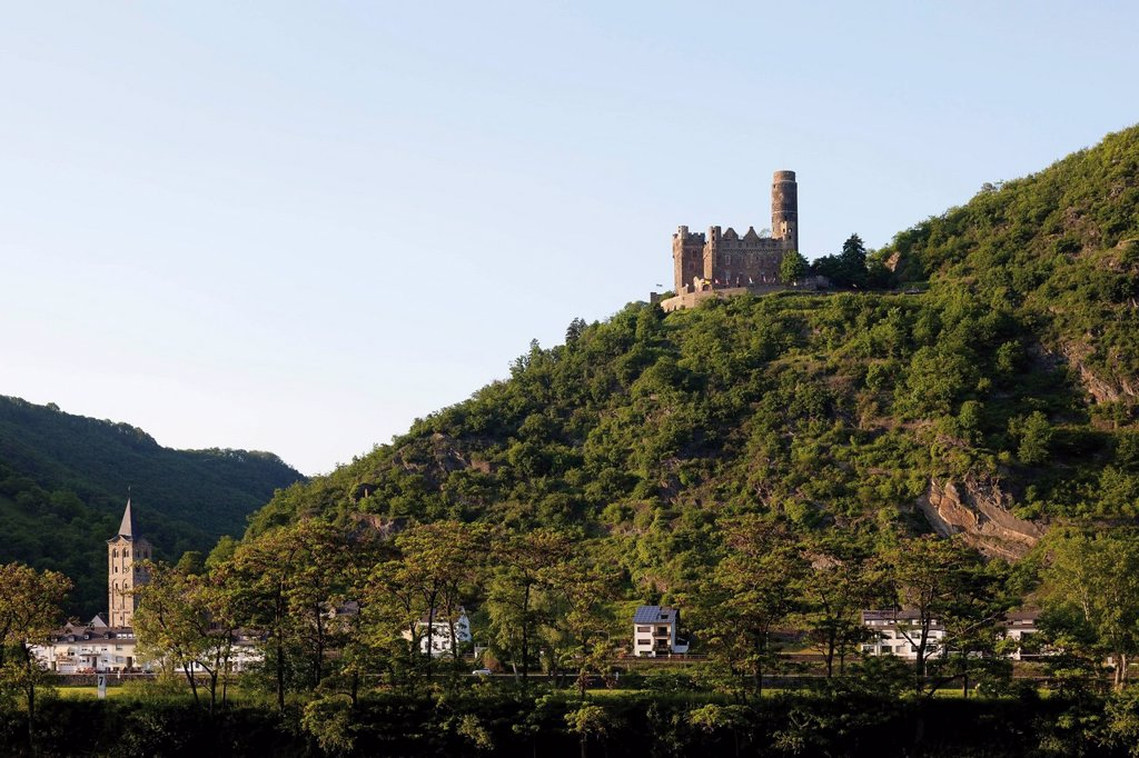 Europe, Germany, Rhineland_Palatinate, View of maus castle : Stock Photo