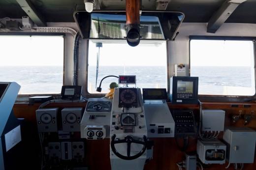 South America, Atlantic, Argentina, Tierra del Fuego, Beagle Channel, Control room of polar star icebreaker cruise ship : Stock Photo