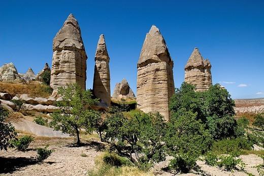 Stock Photo: 1815R-81773 Turkey, Cappadocia, Goreme, View of rock formation