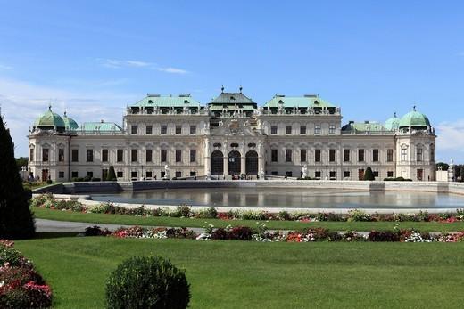 Stock Photo: 1815R-83218 Austria, Vienna, View of upper belvedere castle