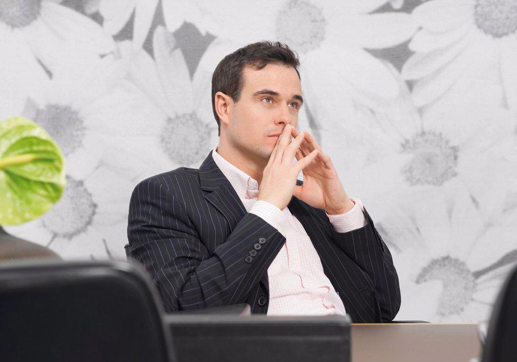 Business man looking away : Stock Photo