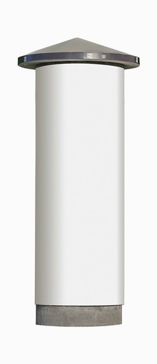 Stock Photo: 1815R-85978 Advertising pillar against white background
