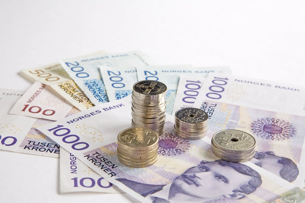 Stock Photo: 1815R-8665 European currency: banknotes and coins