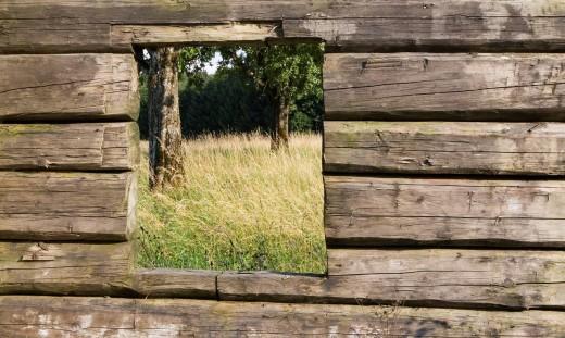 Austria, Salzkammergut, Mondsee, View through window : Stock Photo