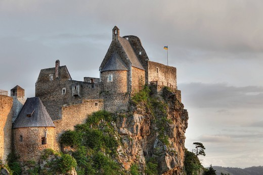 Austria, Lower Austria, Wachau, View of Aggstein castle : Stock Photo