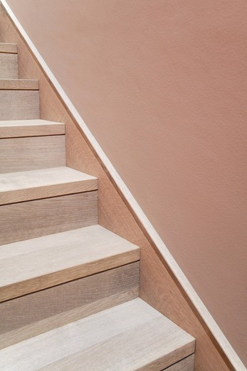 Stock Photo: 1815R-93105 Germany, Upper Bavaria, Munich, Staircase in new house