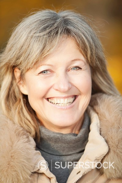 Germany, Upper Bavaria, Senior woman smiling, portrait : Stock Photo
