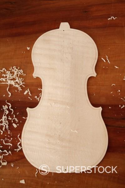 Stock Photo: 1815R-95311 Germany, Upper Bavaria, Schaeftlarn, Close up of violin
