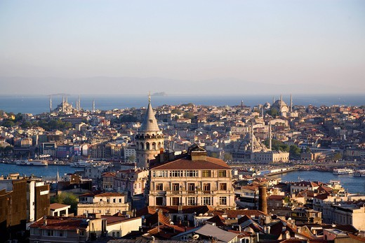 Turkey, Istanbul, View of cityscape : Stock Photo