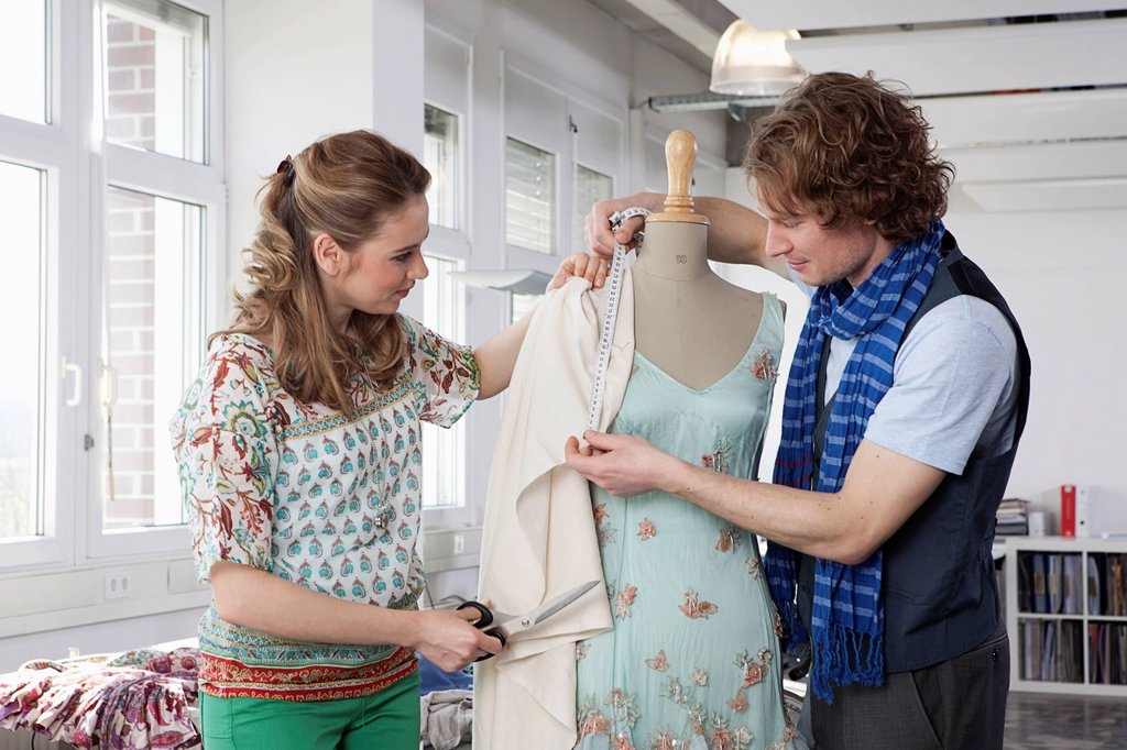 Stock Photo: 1815R-97029 Germany, Bavaria, Munich, Fashion designers working