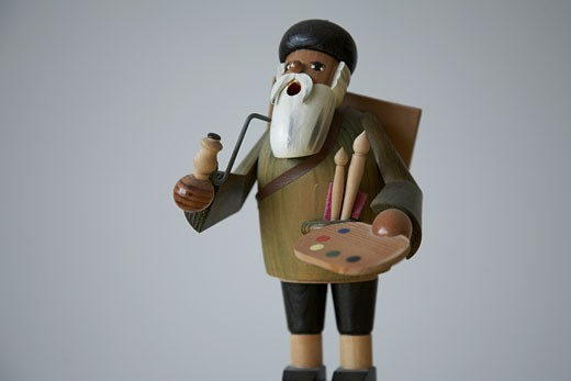 Wooden toy artist : Stock Photo
