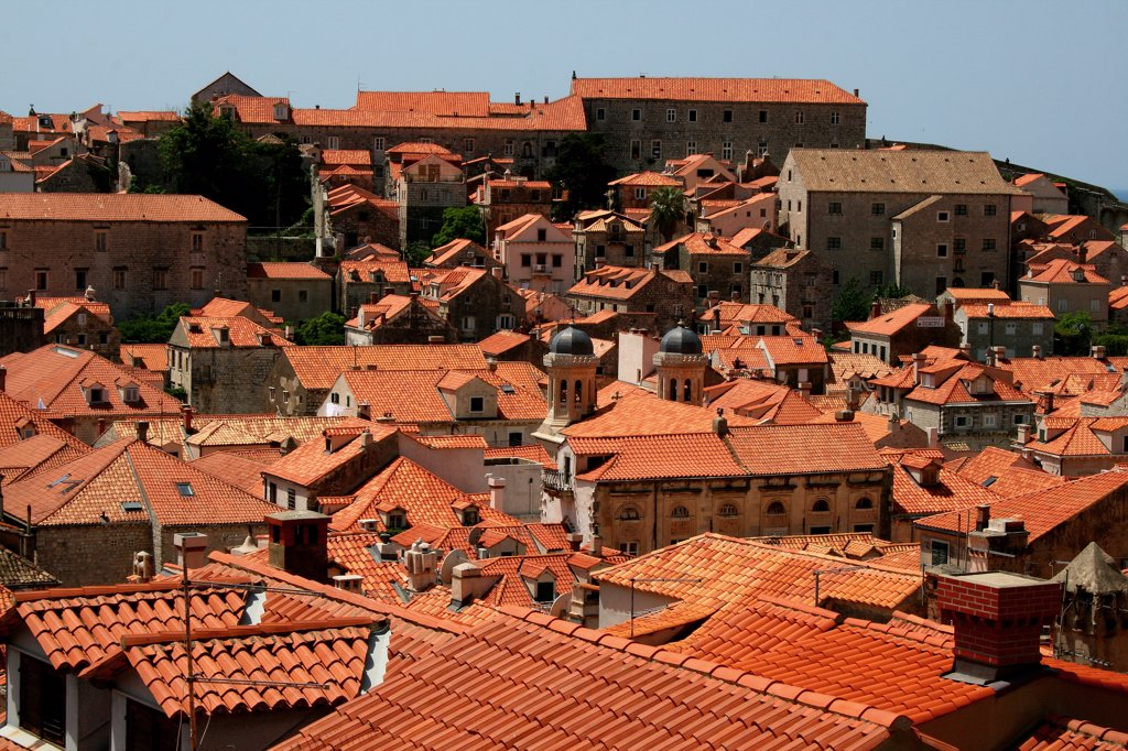 Buildings in a city, Dubrovnik, Dalmatia, Croatia : Stock Photo