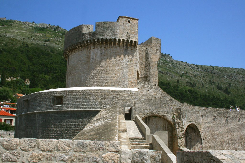 Stock Photo: 1818-234 Lookout tower of a fort, Minceta Tower, Dubrovnik, Dalmatia, Croatia
