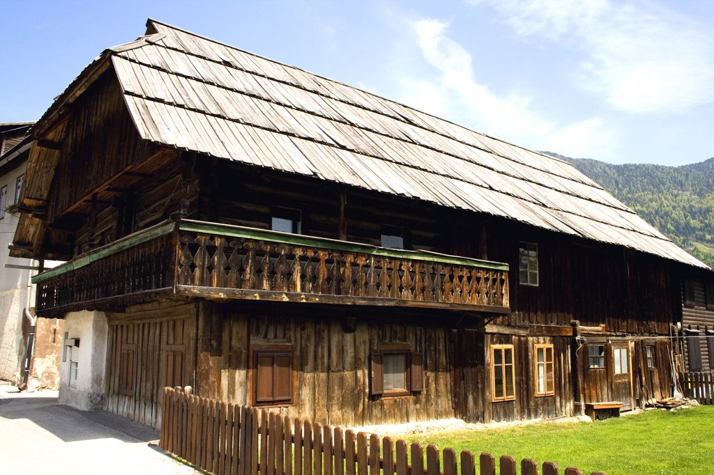 Stock Photo: 1818-245 Wooden house in a town, Kranjska Gora, Slovenia