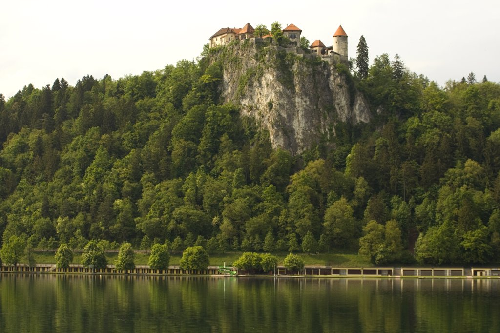 Stock Photo: 1818-250B Castle on a cliff, Bled Castle, Lake Bled, Bled, Slovenia
