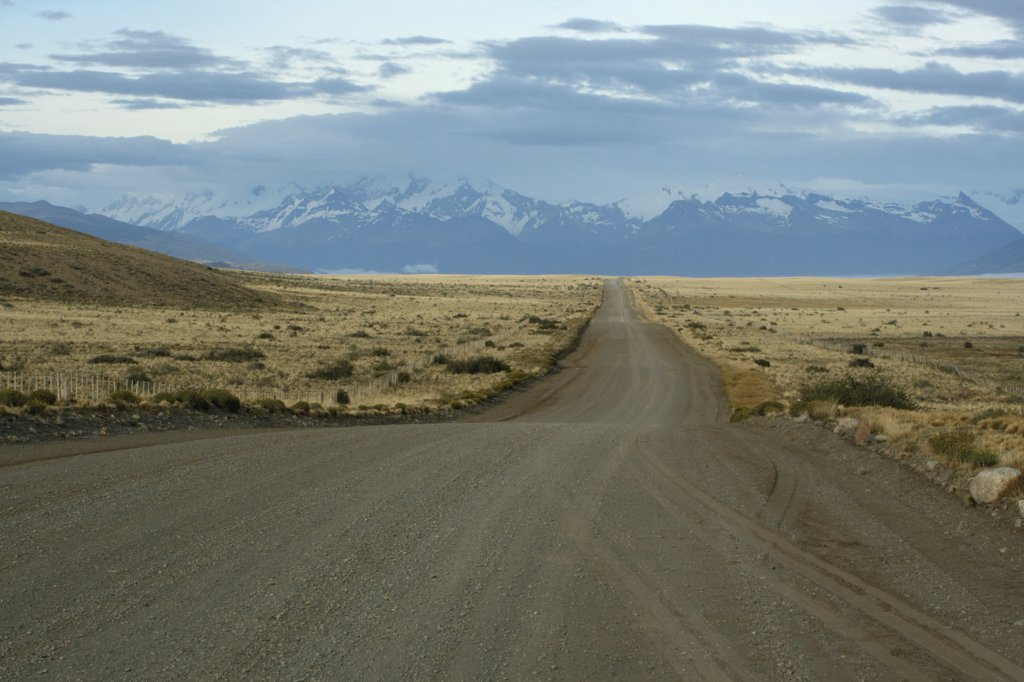 Stock Photo: 1818-262 Dirt road passing through a landscape, Pampas, Argentina